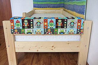 Detské doplnky - Chranic na postel Robot do 80cm - 5574962_