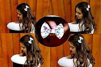 Ozdoby do vlasov - Oživ sa - Ružový kvietok - 5581376_