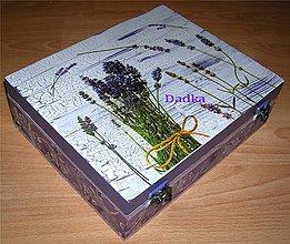 Krabičky - 12 priečinková krabica levandulová robila som na objednávku - 5582767_