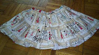 Detské oblečenie - Retro mini suknicka - 5590614_