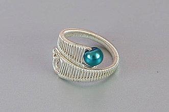 Prstene - prsteň s tyrkysovou perličkou - 5590578_