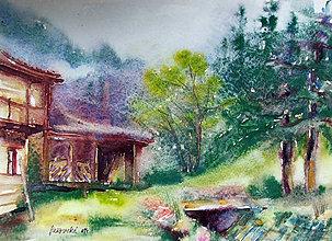 Obrazy - Dvor v daždi - 5590549_