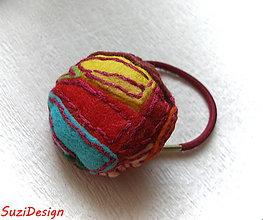 Gumičky - patchwork gumička do vlasov - 5590568_