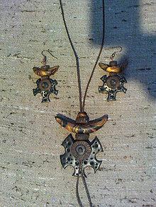 Sady šperkov - Hnedozlatý prívesok - 5590603_