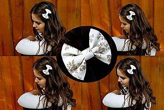 Ozdoby do vlasov - Oživ sa - Béžová kvetinka - 5592523_