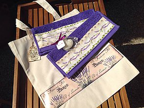Úžitkový textil - Darčeková súprava - Levanduľová - - 5603967_