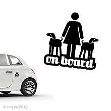 Pre zvieratká - nálepka - ON BOARD! - 5607085_