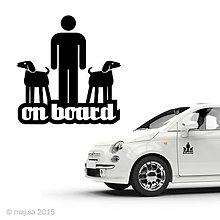 Pre zvieratká - nálepka - ON BOARD! - 5607104_