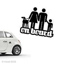 Pre zvieratká - nálepka - ON BOARD! - 5607124_