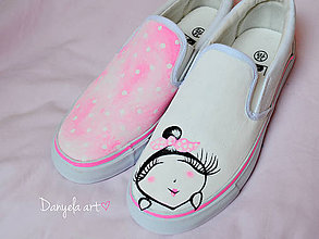 Obuv - CUSTOMIZED hand-painted shoes - 5609298_