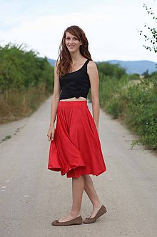 Sukne - Kruhová sukňa jednofarebná MIDI - 5630429_