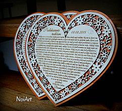 Darčeky pre svadobčanov - Svadobné srdce poďakovanie rodičom 7 - 5631717_