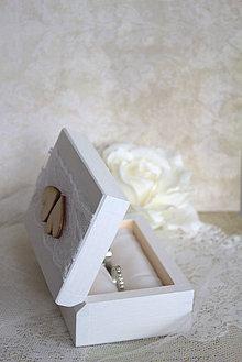 Prstene - Krabička na prstienky Two Hearts - 5639463_