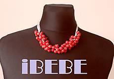 Náhrdelníky - Červený korálkový náhrdelník - 5648225_