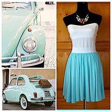 Sukne - Krátka kruhová suknička - 5660880_