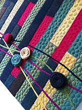 Obrazy - Textilný art quilt-rozkvitnutá lúka - 5674530_