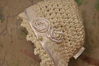 Detské čiapky - kremovy cepcek - 5682071_