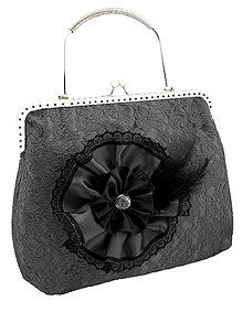 Kabelky - Spoločenská dámská čipková kabelka čierná 0976C - 5684996_