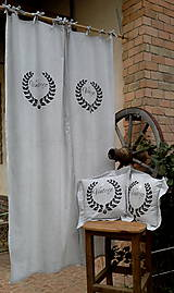 Úžitkový textil - ZÁVES VINTAGE šedý - 5704214_