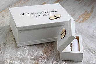 Prstene - Sada krabičiek Two hearts - 5709383_