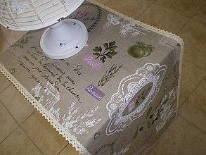 Úžitkový textil - Ľanová štola pre Majku - 5707784_