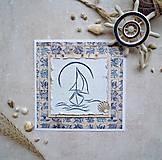 Papiernictvo - Námornícky  vyšívaný pozdrav