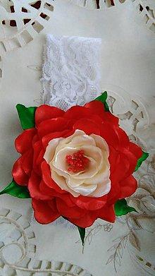 Ozdoby do vlasov - čelenka ruža - 5718529_