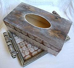 Krabičky - ...na chalupu /zásobník na vreckovky - 5718154_