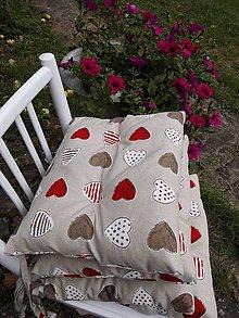 Úžitkový textil - PODSEDÁKY srdíčka 4 ks - 5724254_