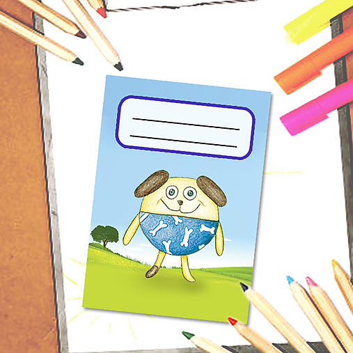 Mini zápisník Guľkáči - psík