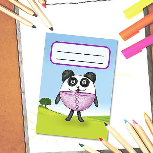 Mini zápisník Guľkáči - panda