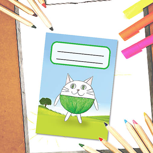 Mini zápisník Guľkáči - mačka