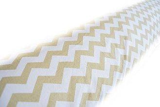 Úžitkový textil - _HAJA & Cik-CaK... Béžová & Biela... 170 cm - 5739869_