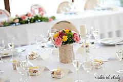 Iné doplnky - svadobná výzdoba z krajky  - 5749838_