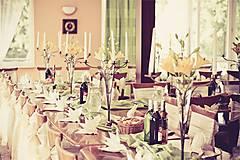 Iné doplnky - svadobná výzdoba s kovanými svietnkmi - 5750805_