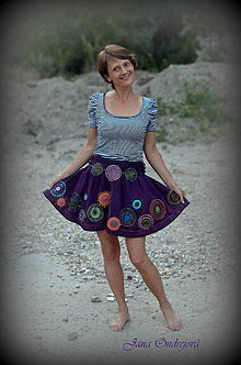 Sukne - Baklažánová sukňa vo veľ.38 na objednávku - 5757063_