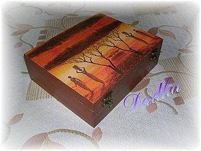 Krabičky - 12 priečinková krabica na čaj africká - 5759932_