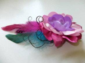 Ozdoby do vlasov - farebná fantázia - clip do vlasov - 5764867_