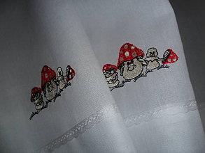Úžitkový textil - Muchotrávky na prechádzke - 5769636_