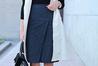 Sukne - Denimová sukňa - 5772980_