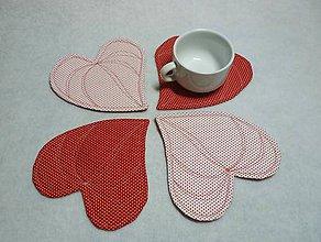 Úžitkový textil - srdcovka bodka - 5780126_
