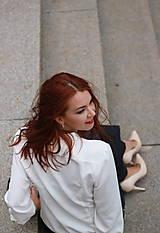 Košele - Biela košeľa s viazačkou - 5778555_
