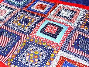 Úžitkový textil - Deka - Crazy patchwork. - 5780972_
