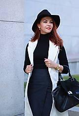 Iné oblečenie - Biela vesta/ sako bez rukávov - 5785428_