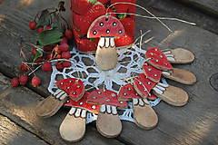 Dekorácie - Keramická muchotrávka - 5784321_