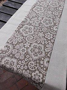 Úžitkový textil - BĚHOUN 38 x 137 cm lněný - 5789438_