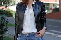 Kabáty - Čierna koženková bunda - 5808989_