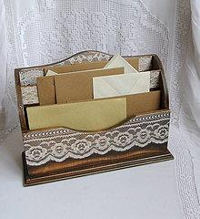 Krabičky - čipkovaná romantika/stojan na listy... - 5829821_