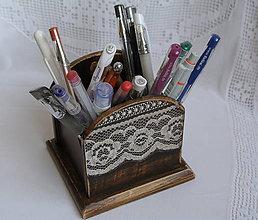 Krabičky - čipkovaná romantika/ zásobník na ceruzky - 5829867_