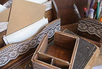 Krabičky - čipkovaná romantika/zásobník na poznámkové bločky - 5829890_